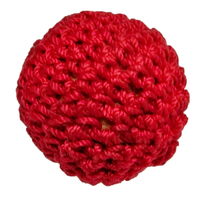 1 inch Magnetic Crochet Ball (Red) by Ickle Pickle Products
