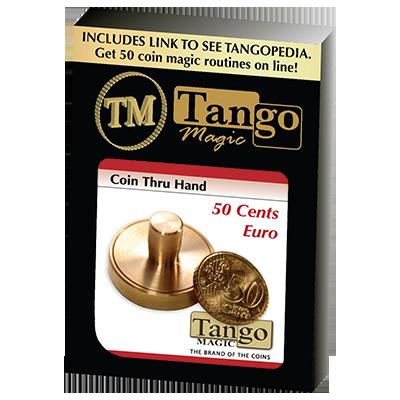 50 cents Euro Thru Hand by Tango - Trick (E0057)