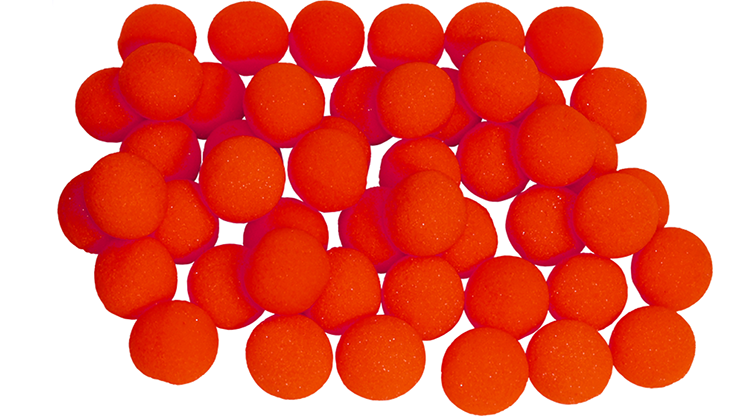 1.5 inch Regular Sponge Balls (Red) Bag of 50 from Magic by Gosh