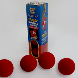 2 inch Sponge Ball (Red) 4 pack by Loftus