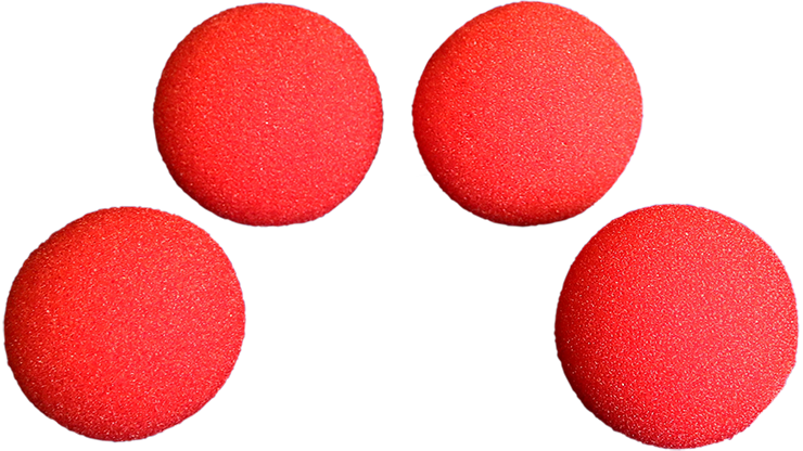 3 inch Super Soft Sponge Ball (Red) Pack of 4 from Magic by Gosh