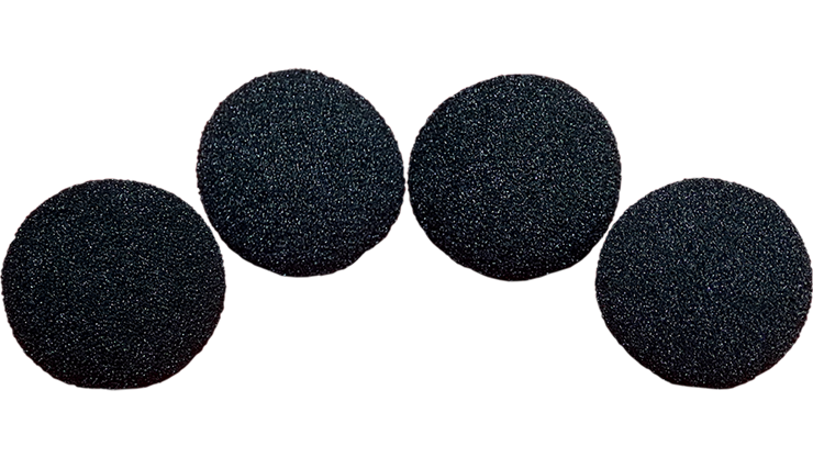 2 inch Regular Sponge Ball (Black) Pack of 4 from Magic by Gosh