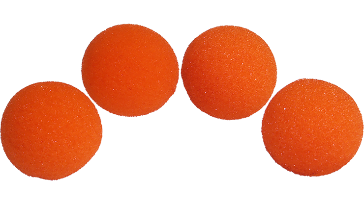 1 inch Super Soft Sponge Ball (Orange) Pack of 4 from Magic by Gosh