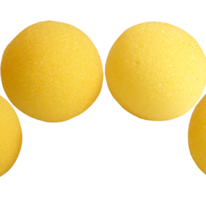 1.5 inch Regular Sponge Balls (Yellow) Pack of 4 from Magic by Gosh