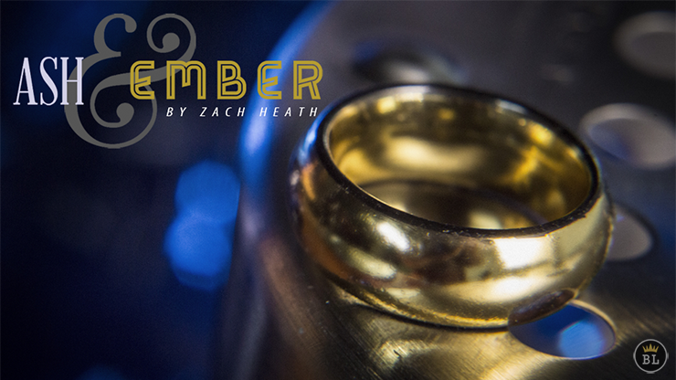 Ash and Ember Gold Curved Size 10 (2 Rings) by Zach Heath  - Trick