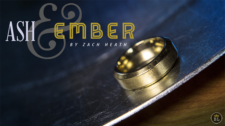 Ash and Ember Gold Beveled Size 8 (2 Rings) by Zach Heath  - Trick