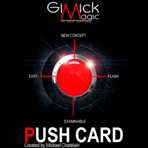 PUSH CARD (Japanese) by Mickael Chatelain  - Trick