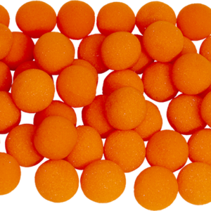 1 inch Super Soft Sponge Ball (Orange) Bag of 50 from Magic By Gosh