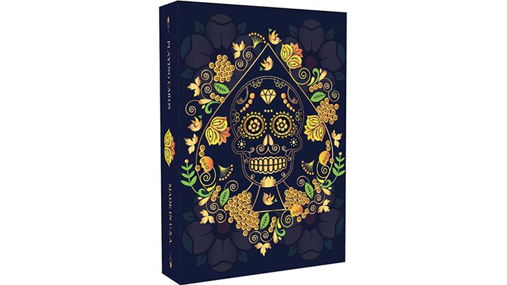 Calaveras de Azúcar Blue Edition Playing Cards Printed by USPCC