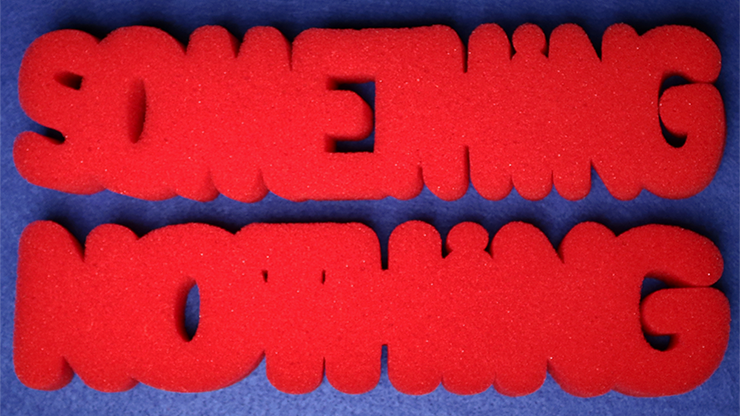 Super Soft Sponge - Something or Nothing (RED) by Magic By Gosh