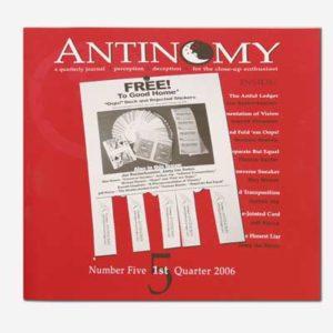 Antinomy Magazine 5 - Book