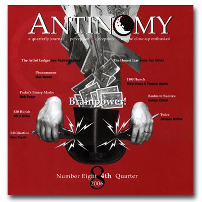 Antinomy Magazine 8 - Book