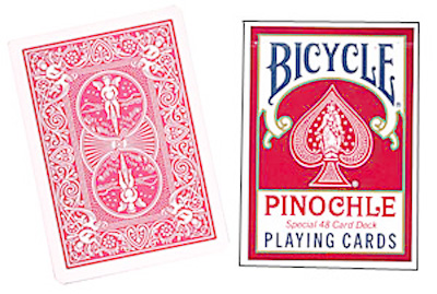 Cards Bicycle Pinochle Poker-size (Red)