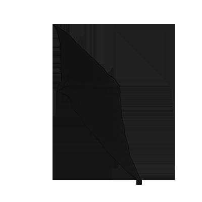 12 inch Diamond Cut Silk (Black) by Vincenzo Di Fatta
