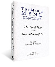 Final Four Magic Menu Book