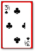 3 1/2 Clubs Cards(1 card equals  1unit) Royal