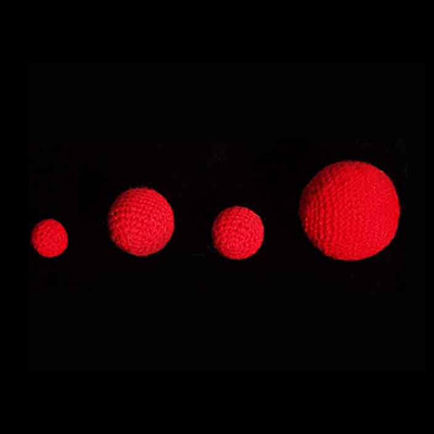 1.75 inch Crochet Balls (Red) by Uday - Trick